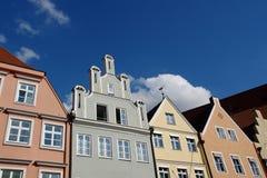 Telhados de edifícios velhos. Fotos de Stock