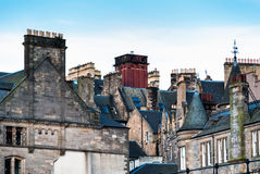 Telhados de Edimburgo imagens de stock