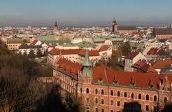 Telhados de Krakow Imagens de Stock