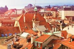 Telhados de Lausana Fotos de Stock