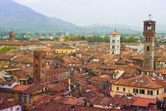 Telhados de Lucca Foto de Stock