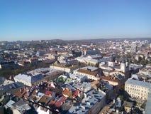 Telhados de Lvov Fotos de Stock Royalty Free
