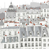 Telhados de Paris Imagens de Stock Royalty Free
