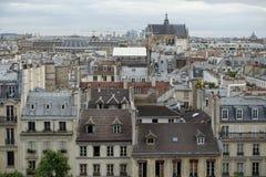 Telhados de Paris Imagens de Stock