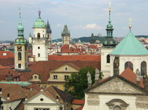 Telhados de Praga Imagens de Stock