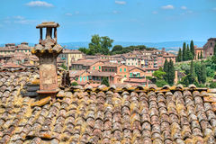 Telhados de Siena Imagem de Stock