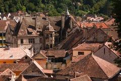 Telhados de Sighisoara fotos de stock