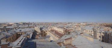 Telhados de St Petersburg fotografia de stock royalty free