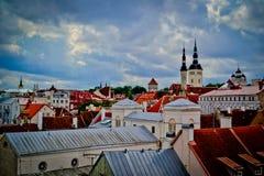 Telhados de tallinn Foto de Stock Royalty Free