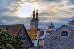 Telhados de Tallinn Estónia Imagem de Stock
