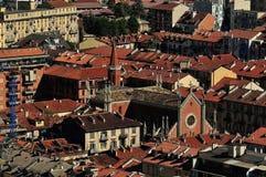 Telhados de Torino Fotos de Stock