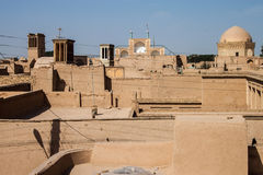 Telhados de Yazd Imagem de Stock Royalty Free