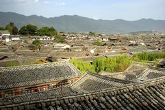 telhados do lijiang Foto de Stock