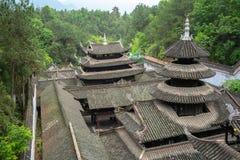 Telhados do palácio na cidade antiga imperial de Enshi Tusi em Hubei China Imagem de Stock