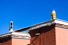 Telhados do templo de Tuolin Foto de Stock Royalty Free
