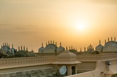 Telhados do templo hindu em Nahargarh Jiapur Imagens de Stock
