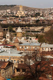 Telhados e abóbadas de Tbilisi Fotos de Stock Royalty Free