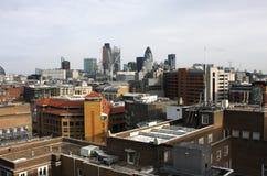 Telhados e skyline de Londres Imagem de Stock