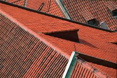 Telhados em Praga Imagens de Stock