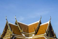 Telhados em Wat-phra-kaew Fotos de Stock Royalty Free