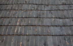 Telhados feitos da madeira Foto de Stock
