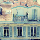 Telhados franceses, agradáveis, França Foto de Stock Royalty Free
