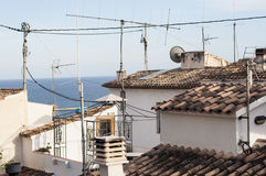 Telhados na costa mediterrânea da Espanha Imagem de Stock