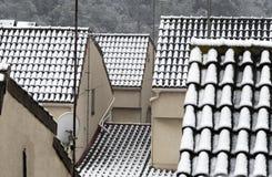 Telhados nevado Foto de Stock