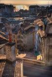 Telhados no por do sol Imagem de Stock