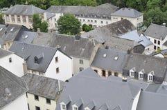 Telhados no sur Sûre de Esch Imagens de Stock Royalty Free