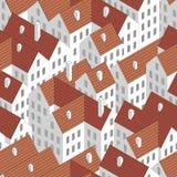 Telhados (papel de parede sem emenda do vetor) Ilustração Stock
