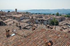 Telhados tradicionais de Tuscan Fotografia de Stock