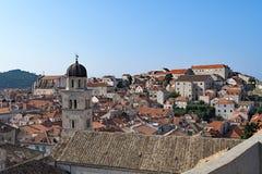Telhados velhos 3 da cidade de Dubrovnik foto de stock