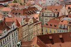 Telhados velhos da cidade de Praga Fotografia de Stock Royalty Free