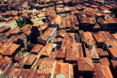Telhados vermelhos de Porto Fotografia de Stock