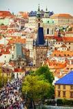 Telhados vermelhos de Praga Imagem de Stock Royalty Free