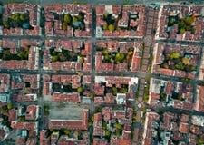 Telhados vermelhos de Sofia Bulgaria fotos de stock
