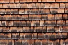 Telhando o fundo de madeira da textura do telhado Fotos de Stock Royalty Free