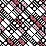Telhar geométrico decorativo das formas Teste padrão irregular monocromático abstraia o fundo Ornamento decorativo artístico Fotografia de Stock