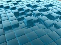 telhas 3D Imagens de Stock