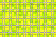 Telhas amarelas - mosaico Fotografia de Stock Royalty Free