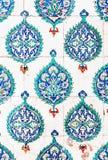 Telhas azuis Imagens de Stock Royalty Free