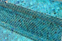 Telhas azuis em um teste padrão abstrato Fotos de Stock
