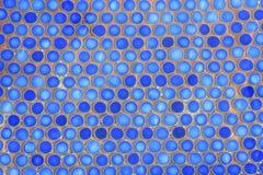 Telhas azuis na piscina Imagem de Stock