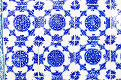 Telhas azuis no palácio de Topkapi Fotos de Stock Royalty Free