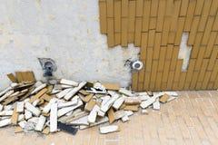 Telhas caídas Fotografia de Stock Royalty Free
