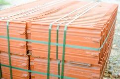 Telhas cerâmicas do telhado Imagens de Stock Royalty Free