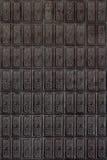Telhas cerâmicas do vintage de Brown imagens de stock