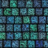 Telhas cerâmicas originais um mosaico sem emenda bonito Foto de Stock Royalty Free