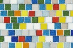 Telhas coloridas Fotografia de Stock Royalty Free